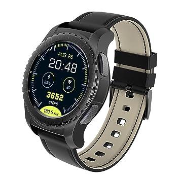 Reloj Inteligente Hombre Mujer Reloj Deportivo Bluetooth 4.0 Con Cámara Remota, Podómetro ,Sueño, Notificación de SMS, Soporte SIM / TF para Android y IOS ...