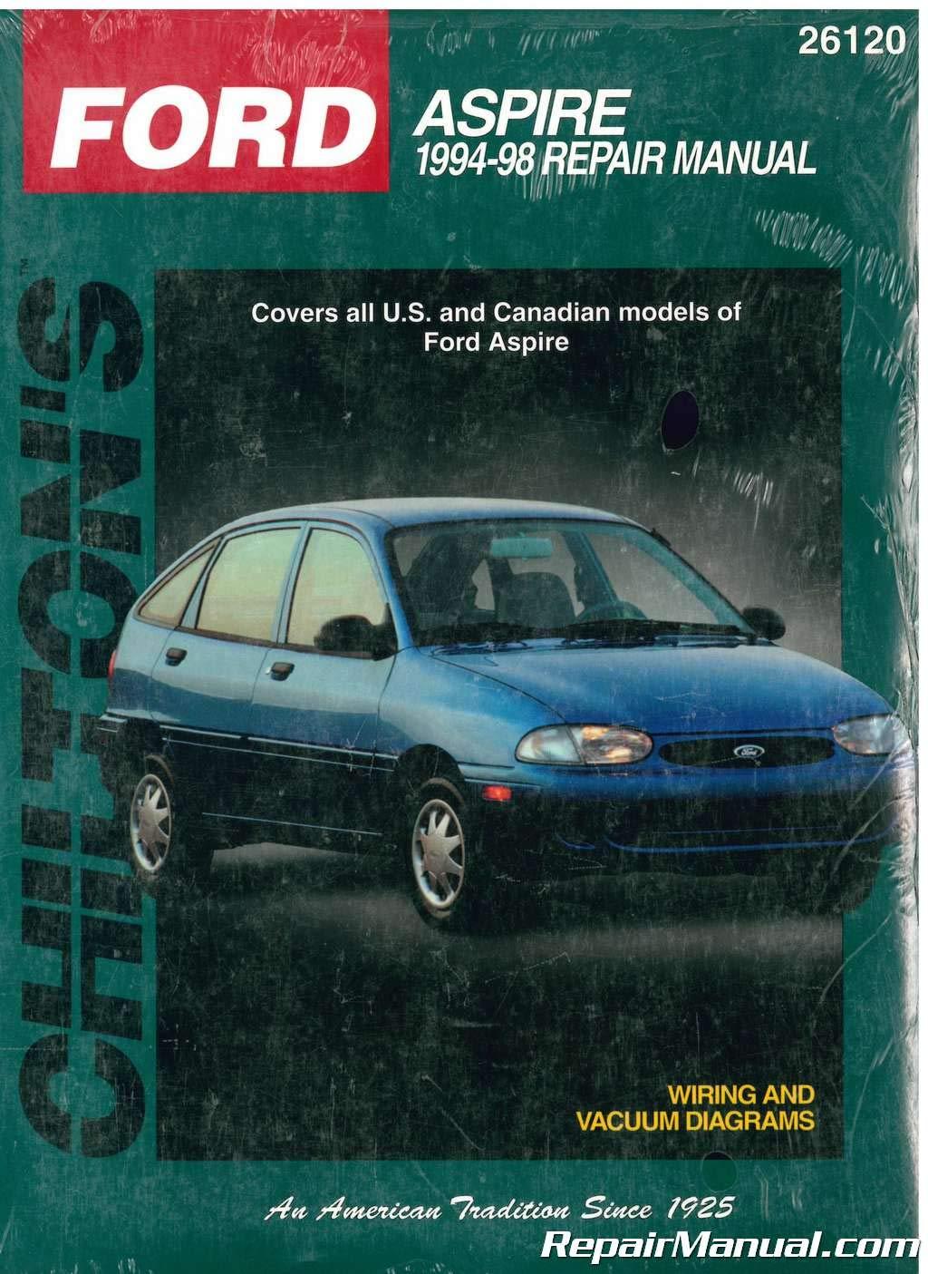 1994 ford aspire wiring diagram ch26120 chilton ford aspire 1994 1998 repair manual by publisher  ch26120 chilton ford aspire 1994 1998