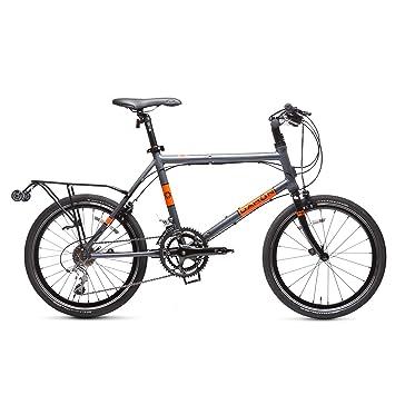 "Dahon Dash P18 Bicicleta Plegable, Gris/Naranja, 20"""