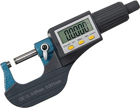 Beslands Micrometer Digitale Bügelmessschraube 0 25mm 0 001mm Hohe Präzision Elektronische Digitale Mikrometer Mikrometerschieber Länge Messwerkzeug Mikrometer 0 001mm 0 00005 Baumarkt