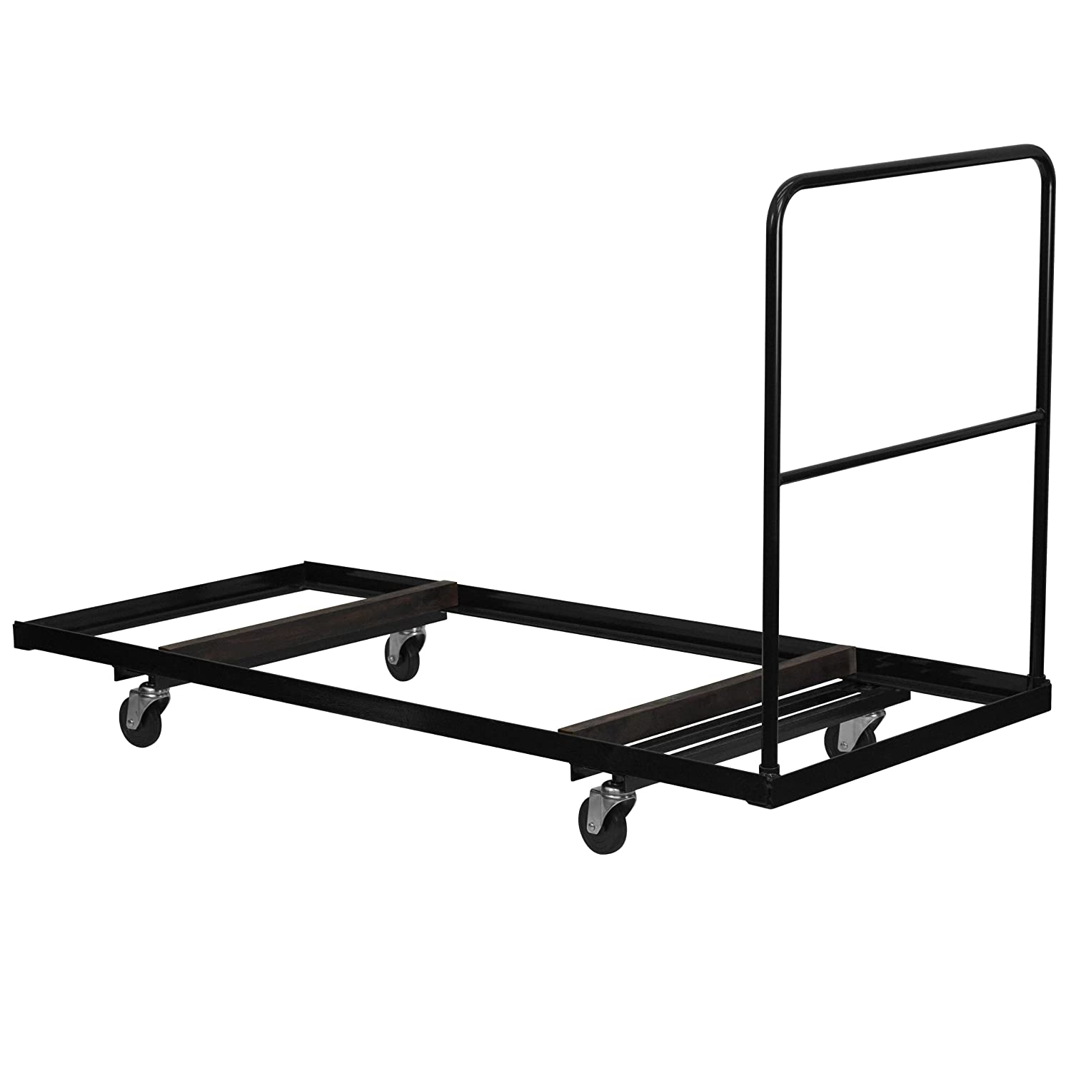 Amazon.com: Flash Furniture Black Folding Table Dolly For 30u0027u0027W X 72u0027u0027D  Rectangular Folding Tables: Kitchen U0026 Dining