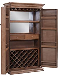 New White Corner Bar Cabinet