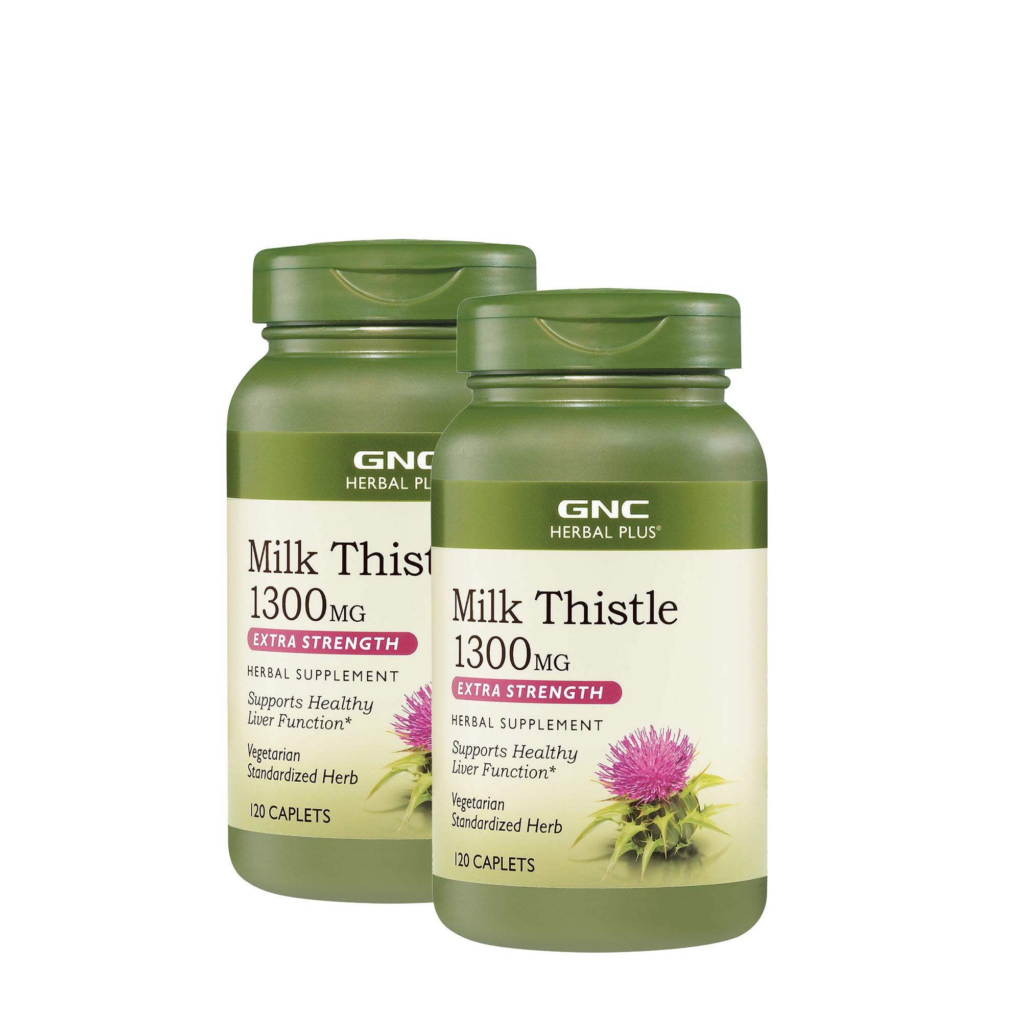 GNC Herbal Plus Milk Thistle 1300mg - Twin Pack