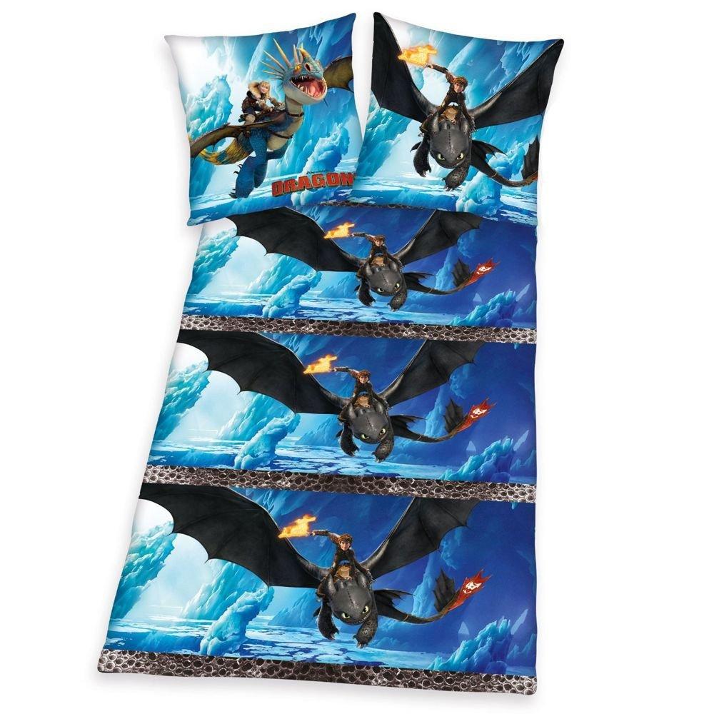 Herding Winter Bettwäsche   135 x 200 cm   DreamWorks Dragons   Kinder Garnitur