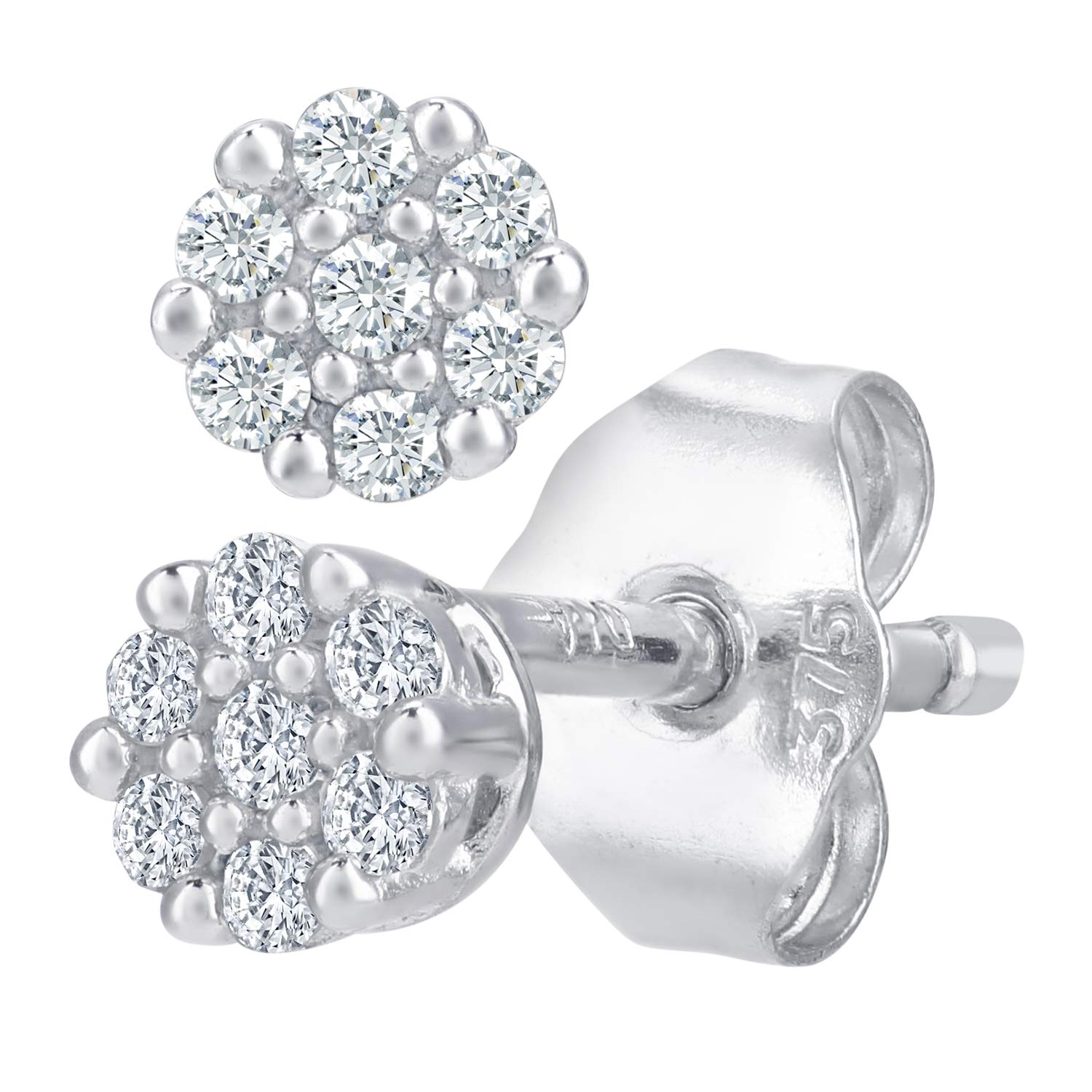 446d831e07a40 Naava 0.07 ct Diamond Earrings in 9 ct White Gold