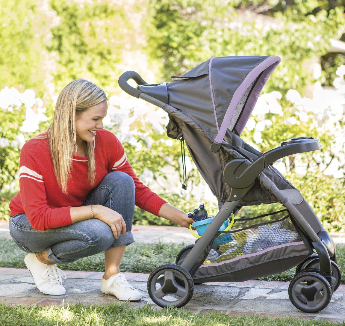 Graco Fastaction Fold Click Connect Travel System Stroller, Janey by Graco (Image #3)