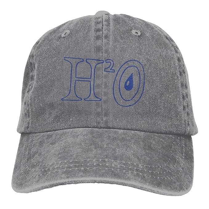 Arsmt Chemical Symbol H2o Denim Hat Adjustable Female Low Baseball