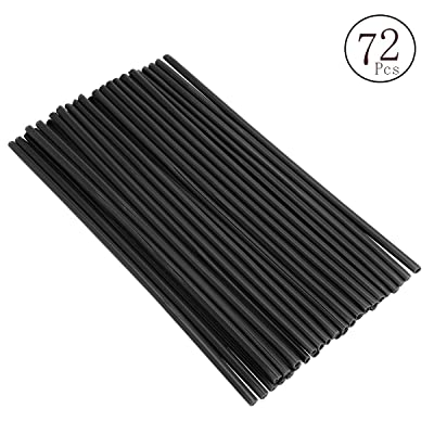 DIXIUZA 72Pcs/Lot Spoke Skin Covers, Universal Protective Wheel Coil Wraps for Motorcycle Off-Road SUV Bicycle (Black): Automotive