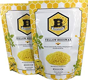 Beesworks Yellow Beeswax Pellets 2lb-Pack of (2) 1lb Packages - Cosmetic Grade