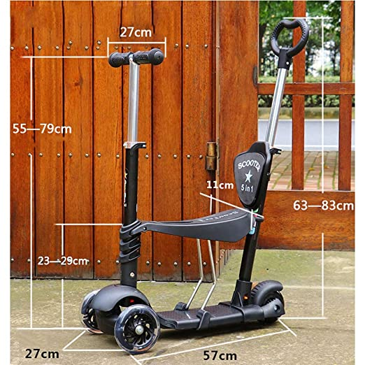 Amazon.com: Modenny Toddler 5 in 1 Kick Scooter with with ...