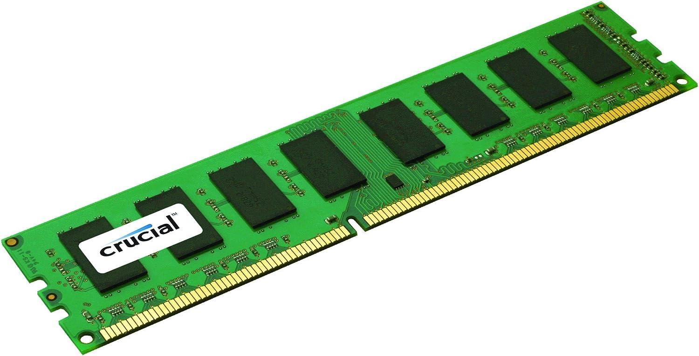 Crucial 4GB Single DDR3 1333 MT/s (PC3-10600) CL9 Unbuffered UDIMM 240-Pin Desktop Memory Module CT51264BA1339