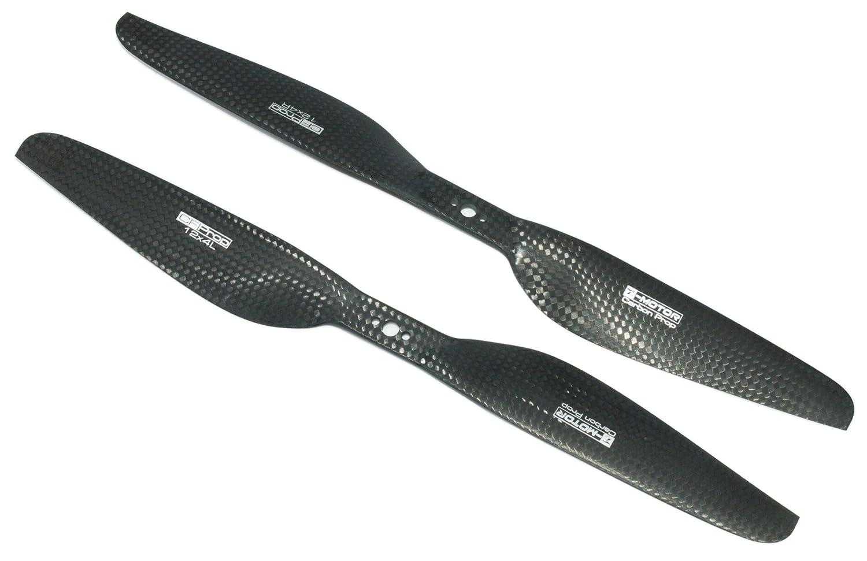T-MOTOR 12x4 Hélices de fibra de carbono para uso con aeronaves de hélices múltiples (1 par)