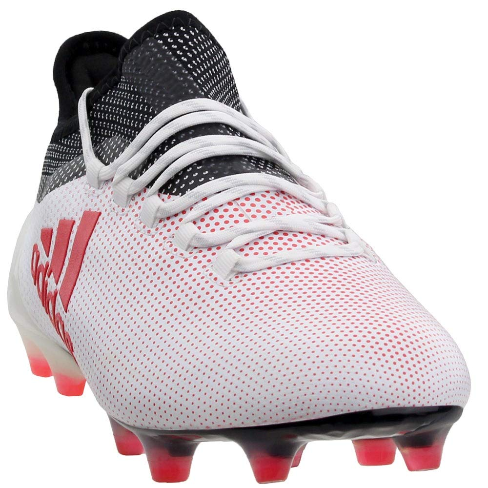 adidas Mens X 17.1 Firm Ground Soccer Casual Cleats, White, 11 by adidas