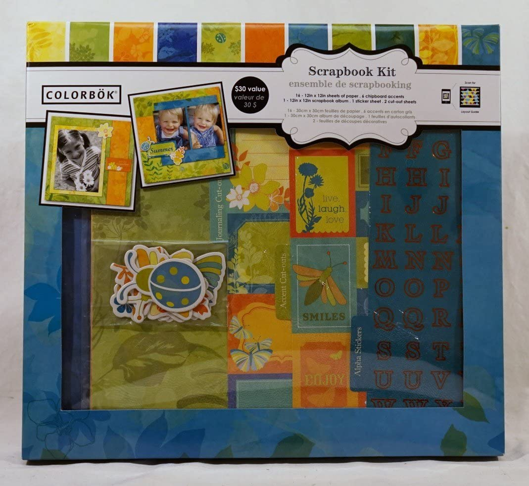 Colorbok Barefoot 12 inch x 12 inch Scrapbook Kit