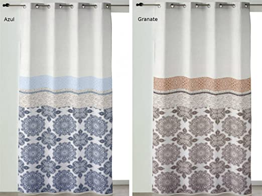 Camatex - Pack Dos Cortinas ollaos Sonia 140x260 cm - Color Azul: Amazon.es: Hogar