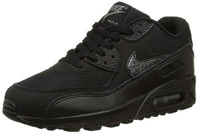 Nike Air Max 90 Mesh (Gs), tour de formation garçon, Negro /
