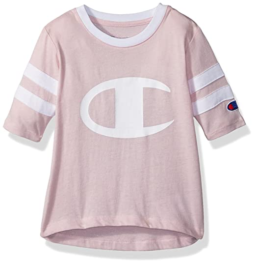 8d220ecad1db Amazon.com  Champion Little Heritage Girls Rugby Style Long Sleeve Tee   Clothing
