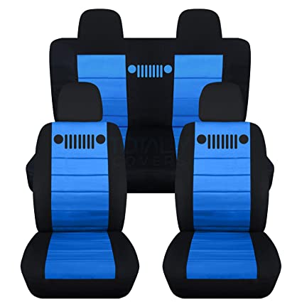 Wondrous Designcovers 2007 2017 Jeep Compass Patriot Seat Covers Black Light Blue Full Set 23 Colors Front Buckets Split Rear Bench Airbag Compatible Ibusinesslaw Wood Chair Design Ideas Ibusinesslaworg