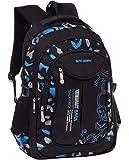 Fanci Flora Camo Prints Waterproof Nylon Elementary School Backpack Bookbag for Teenage Boys