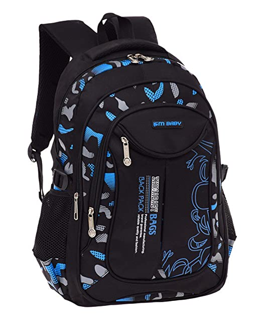 2307125a90b9 Fanci Flora Camo Prints Waterproof Nylon Elementary School Backpack Bookbag  for Teenage Boys