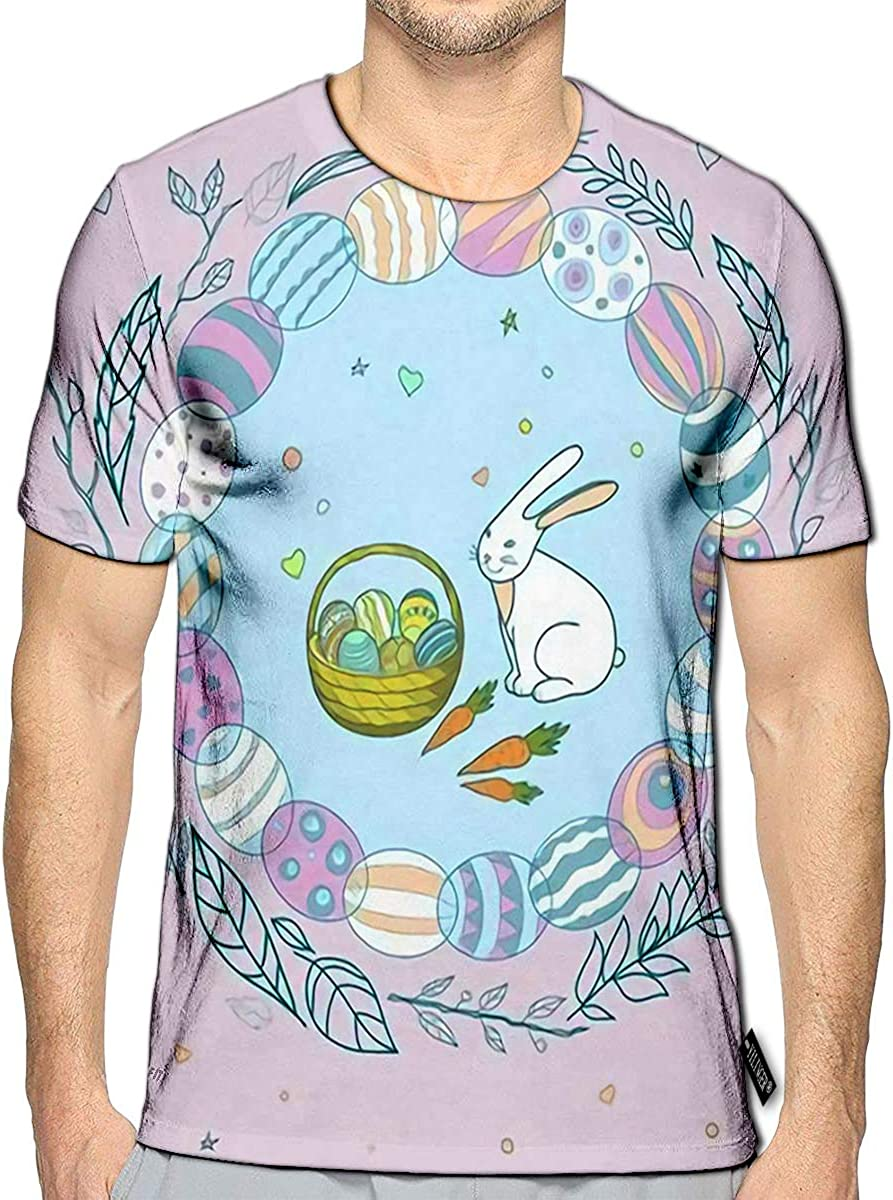 3D Printed T-Shirts Abstract Creative Cartoon with Cosmonaut Short Sleeve Tops Tees