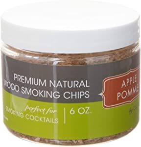 Outset Natural Apple BBQ Smoking Chips, 6 oz, Brown