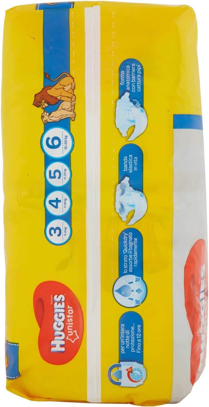 Pack of 14 15//–/30/kg Huggies Unistar Nappy Size 6/