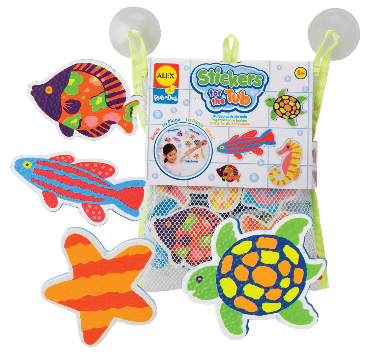 Alex Rub a Dub Beach Stickers for the Tub bath toy Cuckoo 633W