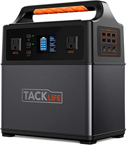 TACKLIFE P40 400Wh Portable Power Station Pure Sine Wave 110V 300W AC DC Solar Generator with Multiple Outlets, Rechargeable Backup Power Supply for Outdoor Using