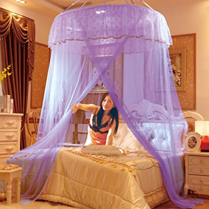Amazoncom Dome Ceiling Princess Bed Canopy Palace Enlarge Double