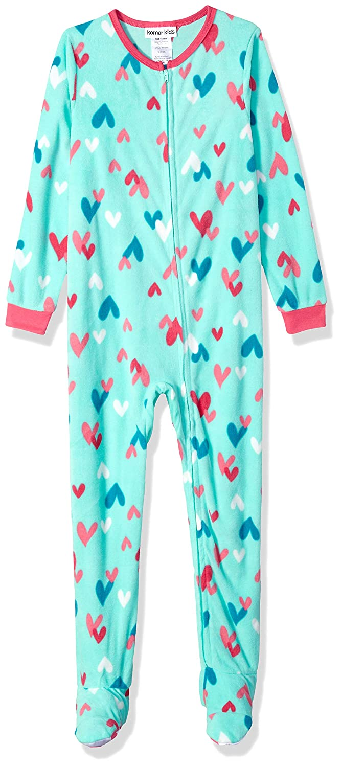 Komar Kids Girls' Big Plush Velour Fleece Footed Blanket Sleeper Pajama