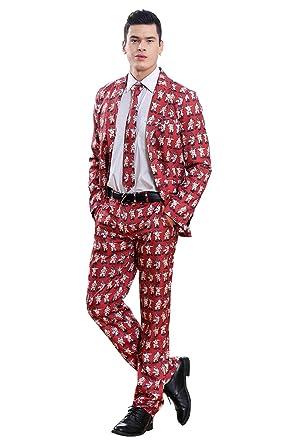 Amazon.com: Disfraz de Papá Noel 3D con estampado de Papá ...