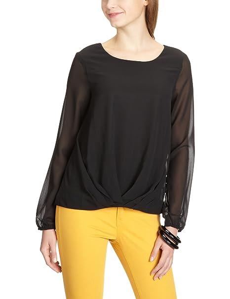 Vero Moda Moda - Blusa de manga larga para mujer, color negro, talla 40