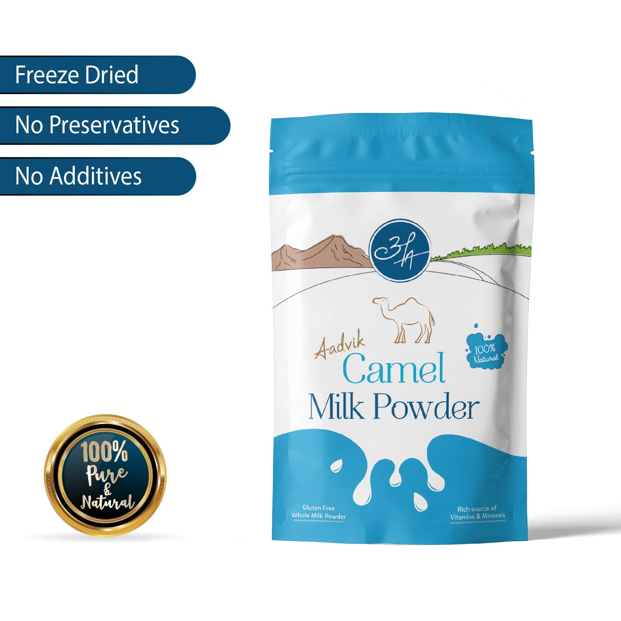 Aadvik Camel Milk Powder 17.5 Oz (Freeze Dried, Gluten Free, No Additives) 25 servings, makes 175 fl oz by Aadvik