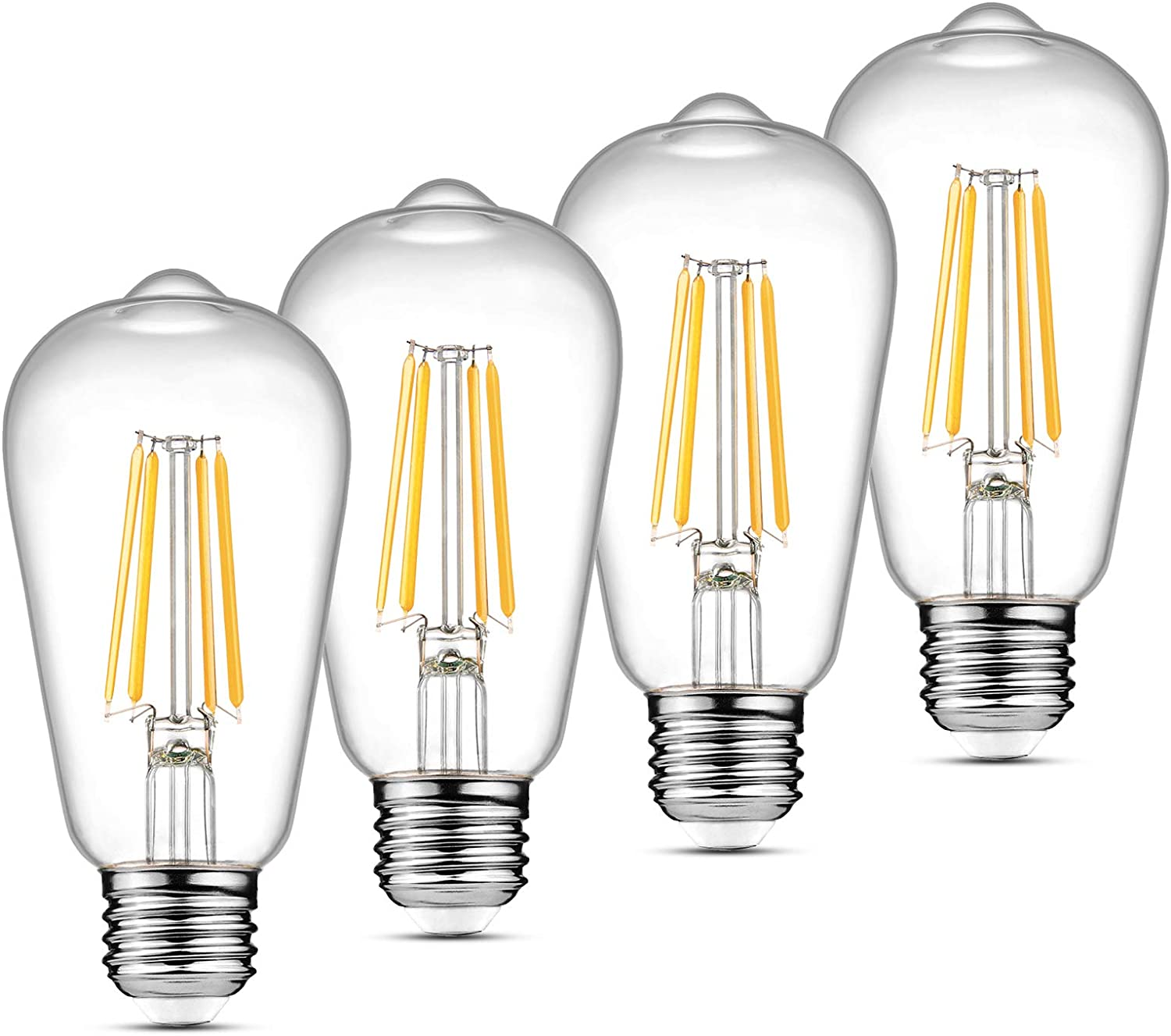 E12 Candelabra Base 2700K Warm White American Lighting Dimmable LED CA10 Opaque Flame Tip Light Bulbs 25-Pack
