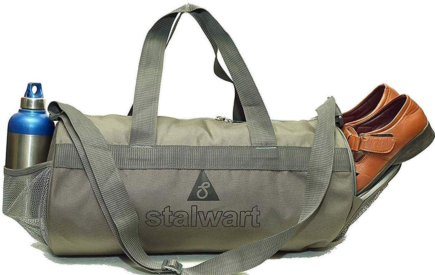 09dd1f11836 Stalwart Waterproof Multipurpose 31L Polyester Duffel Sports Gym Bag for Men  Women with Shoe Compartment