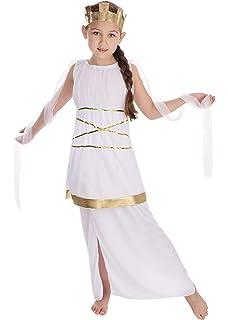 SmiffyS 38775M Disfraz De Niña Griega Con Túnica Y Adorno Para La Cabeza, Rojo, M - Edad 7-9 Años: Smiffys: Amazon.es: Juguetes y juegos