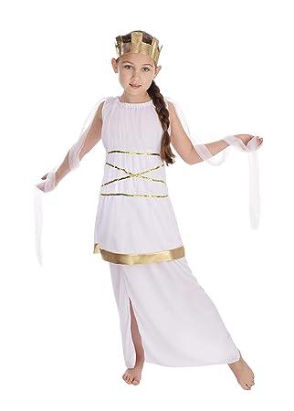 Theme Fancy Dress Disfraz de niña de la Diosa Griega Atenea. 10-13 años