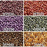 3 mm fire polished crystals - 600 beads 6 colors Unique Set 305 Czech Fire-Polished Faceted Glass Beads Round 3 mm, 3FP034 3FP035 3FP036 3FP038 3FP040 3FP041