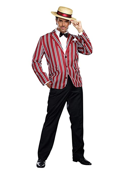 1920s Costumes: Flapper, Gangster, Amelia Earhart Dreamgirl Mens Good Time Charlie Costume Set with Pants $123.42 AT vintagedancer.com