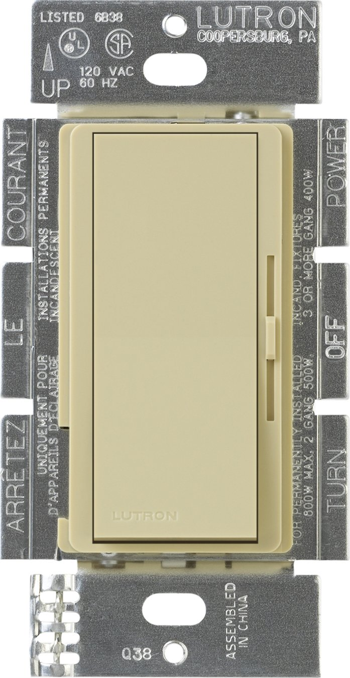 Lutron DVELV-300P-IV Diva 300-watt Single Pole Electronic Low-Voltage Dimmer, Ivory - Wall Dimmer Switches - Amazon.com