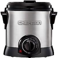 Chefman | Freidora de Aceite con Canasta 1 Litro | Deep Fry | Acero Inoxidable