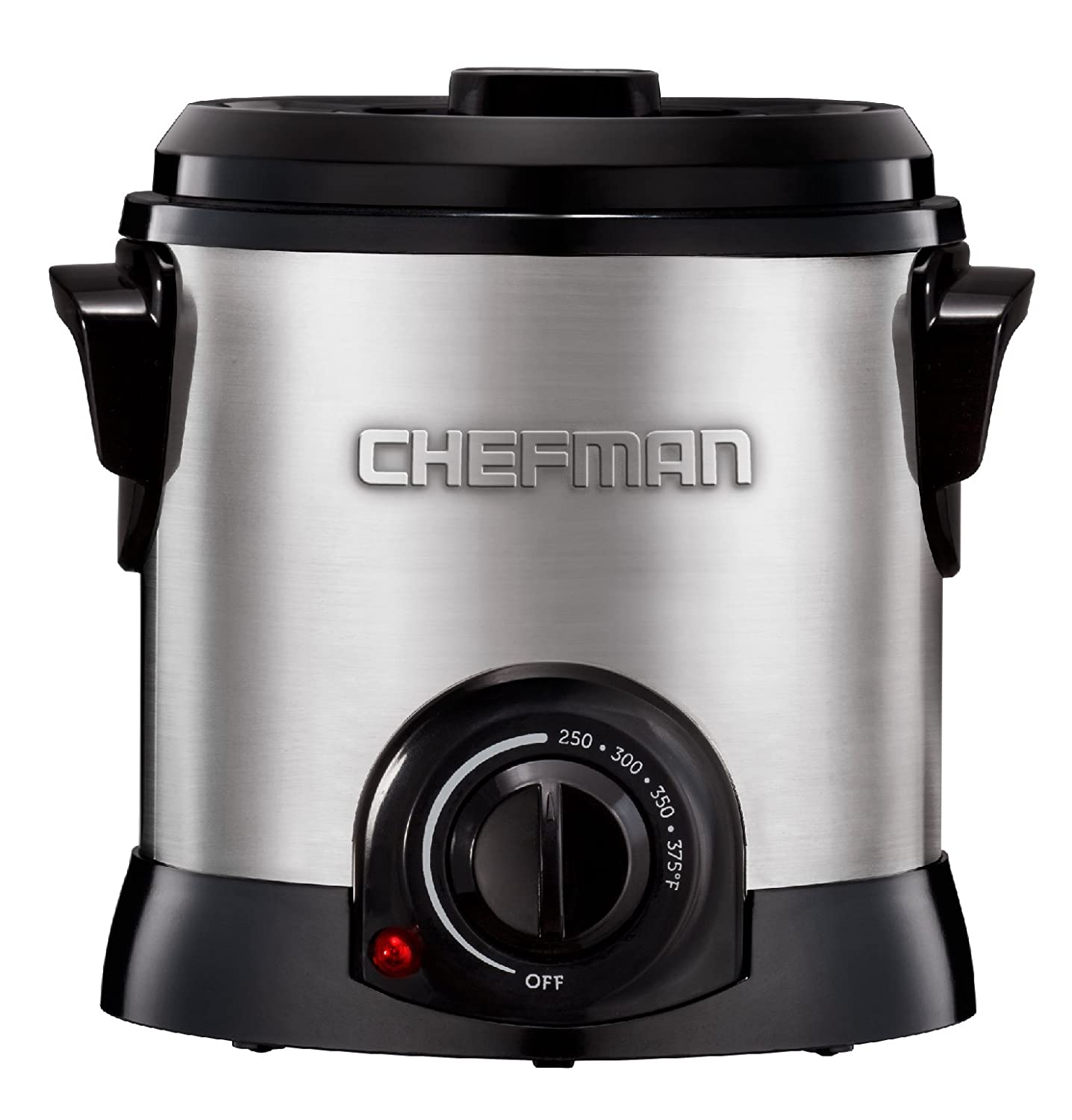 Chefman RJ07-M-SS Deep Fryer Fry Guy, 4.2 Cup Capacity, Stainless Steel Silver