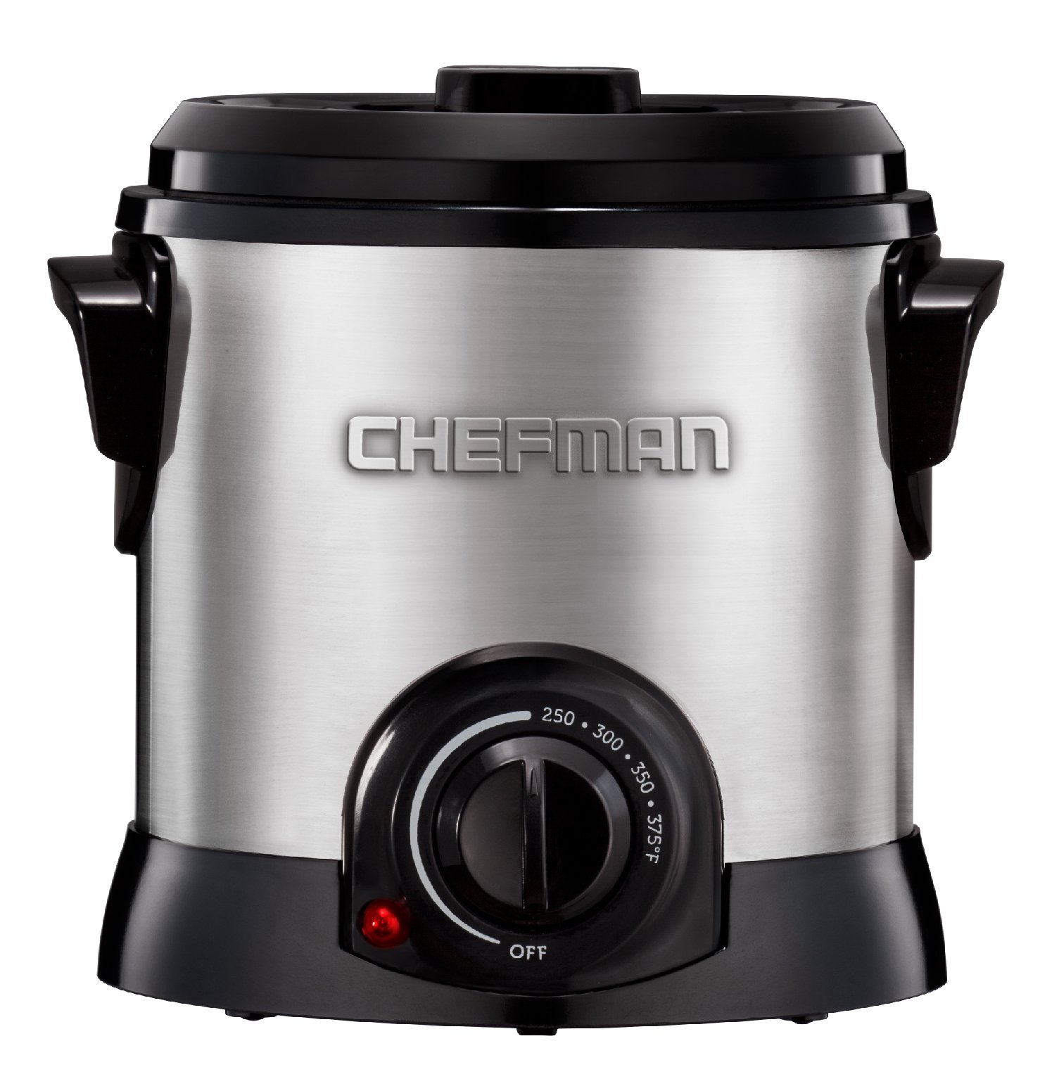 Chefman Deep Fryer Fry Guy with Basket / Strainer for Home, Easy-to-Clean Non-Stick Coating and Cool-to-Touch Stainless Steel Exterior, Rotary Knob for Adjusting the Temperature, Silver