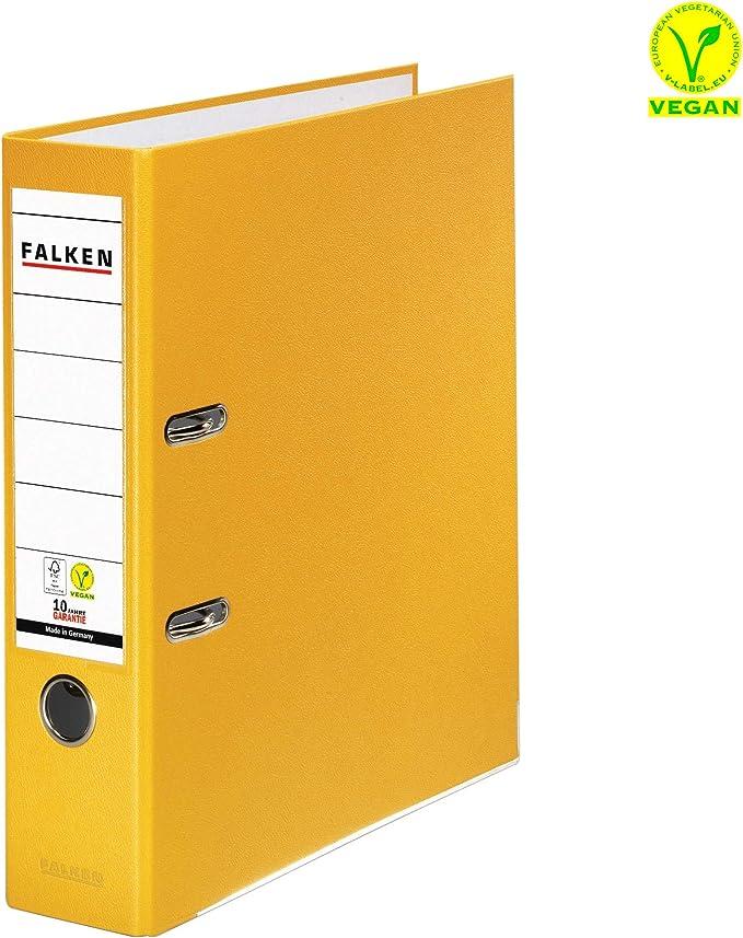 10 Rückenschilder 5 Ordner Falken S50 5 cm schmal gelb Pappe Kunststoff