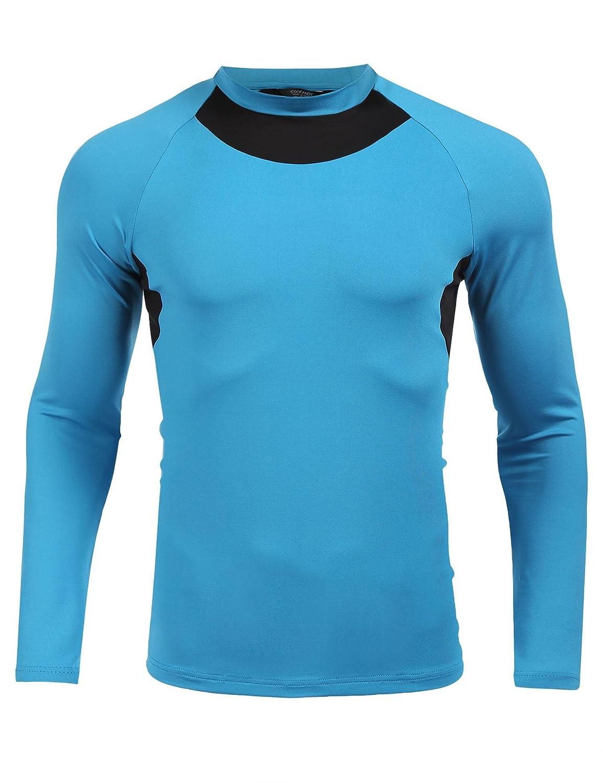 COOFANDY Unisex Rashguard Swim Tee Compression Workout Muscle T Shirts ETJ006527