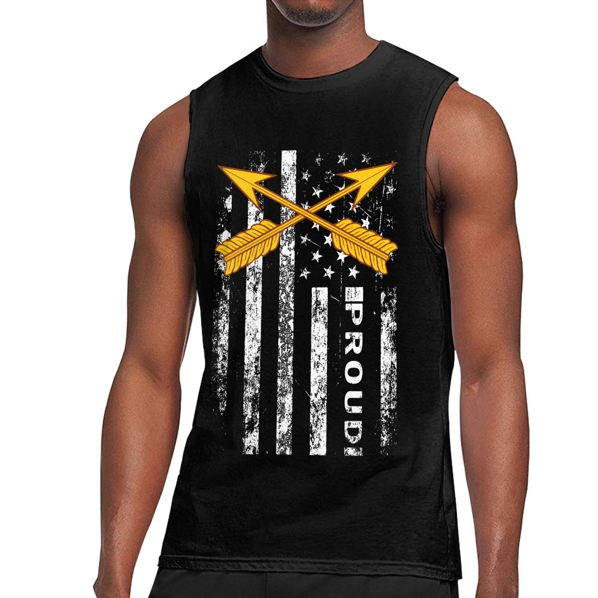 Army Special Forces Mens Sleeveless Activewear Top Jersey