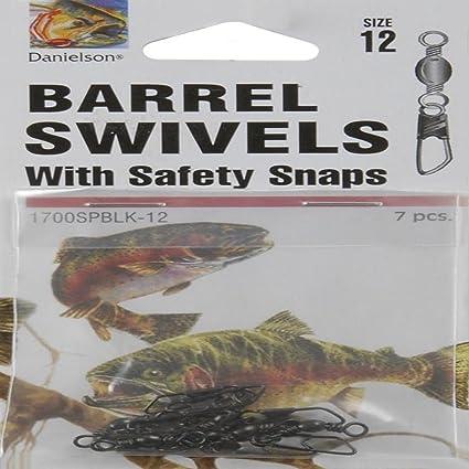 12 Packs of Danielson Brass Barrel Swivels Size 5 with 6 swivels per pack