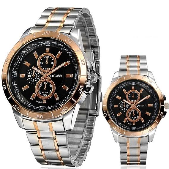Lujo Descuento Reloj Lagmeey Movimiento oro al por mayor entre hombres escalador Relojes: Amazon.es: Relojes