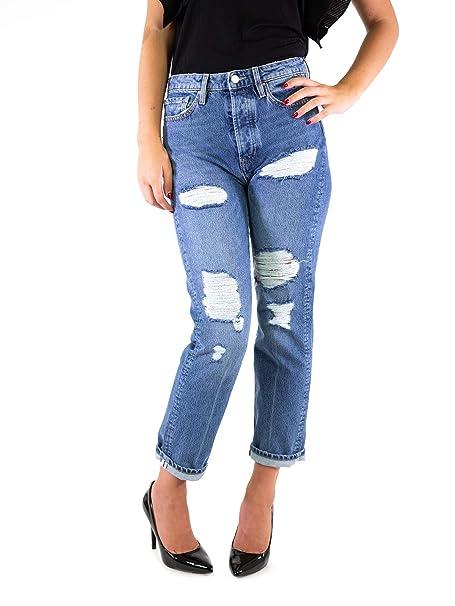 262c141ad687f7 Guess Jeans Stretch Denim STRAPPATO Jeans (Blu, 27): Amazon.it ...
